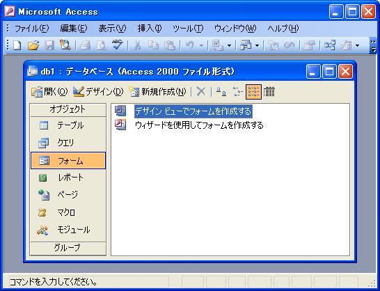 入力 フォーム access